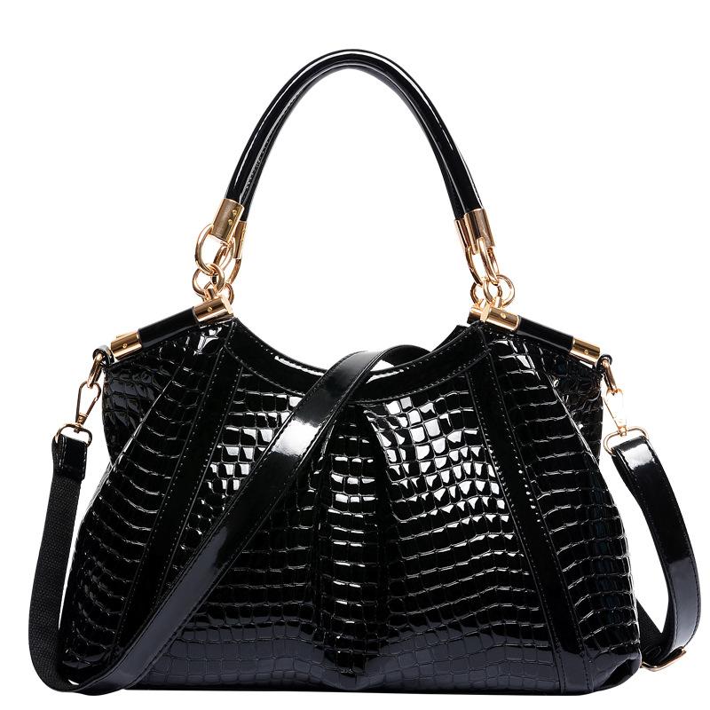 The new European and American fashion handbags luxurious crocodile pattern leather handbags handbag shoulder bag fine<br><br>Aliexpress