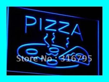 i004-b OPEN Hot Pizza cafe Restaurant LED Neon Light Signs