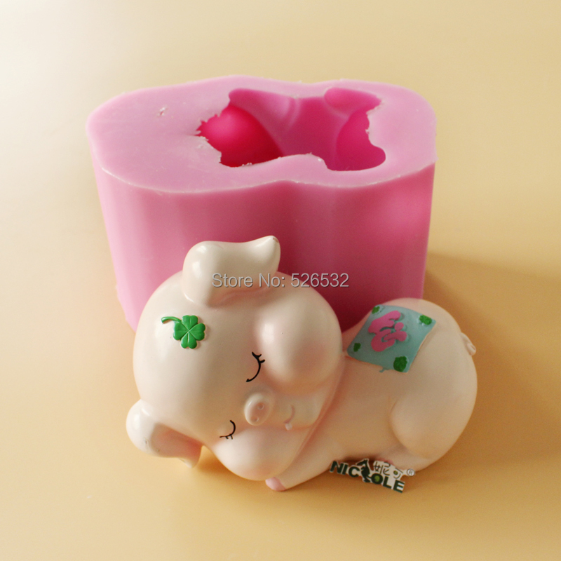 Cake Art Candy Molds : 3D-cute-pig-shape-silicone-soap-mold-decorating-cake ...