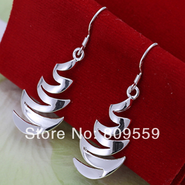 925 silver fashion Crescent bay earrings&pendant earrings,factory Lowest Wholesale 2015 NEW 925 silver earrings(China (Mainland))