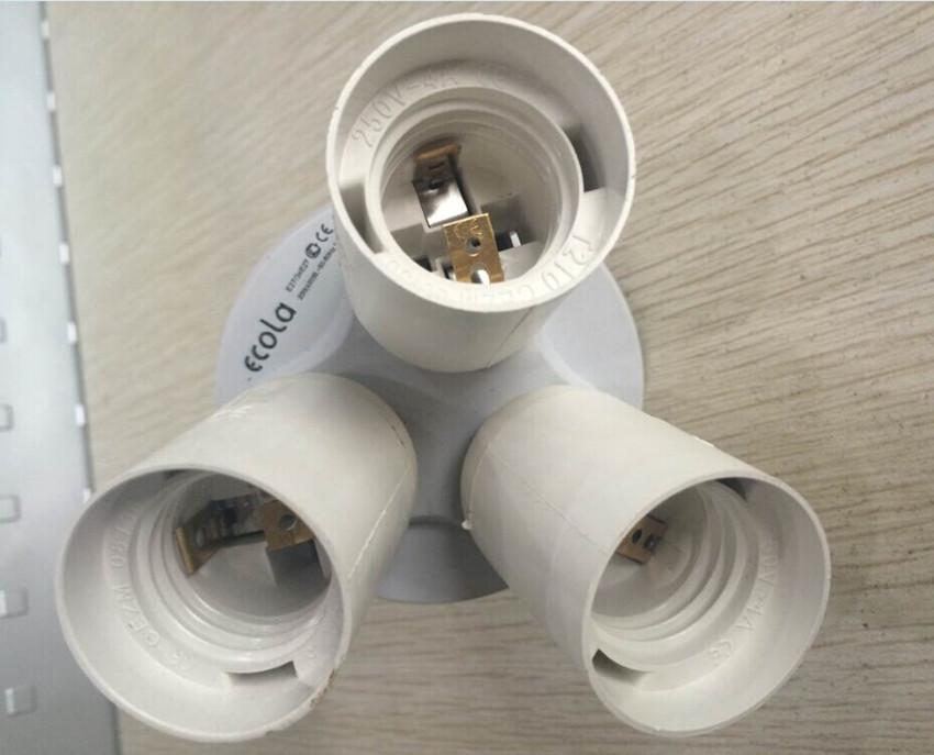 1-3 e27 люстра лампа держатель разъема адаптера базовый 3 в 1 e27 привело разделитель Студия фотографии конвертер softbox СВ