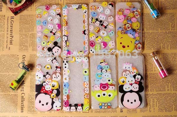 Hot Sale Cute Cartoon Colorful Animals Minnie Mickey Cell Phones Case 8 Styles Cover Case For Iphone 6 4.7(China (Mainland))