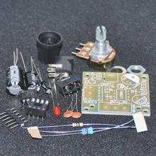 DIY Electronic Kit LM386 Super Mini Audio Amplifier DIY Kit Suite Trousse LM386 Amplificador Module Board 3.5mm 3-12V Unsoldered(China (Mainland))