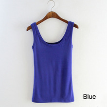 Women Sexy Soft Tank Tops,5 Colors Solid Sleeveless U Fitness Gym Croptops,Sport Camisole Vest Top Cropped For Ladies(China (Mainland))
