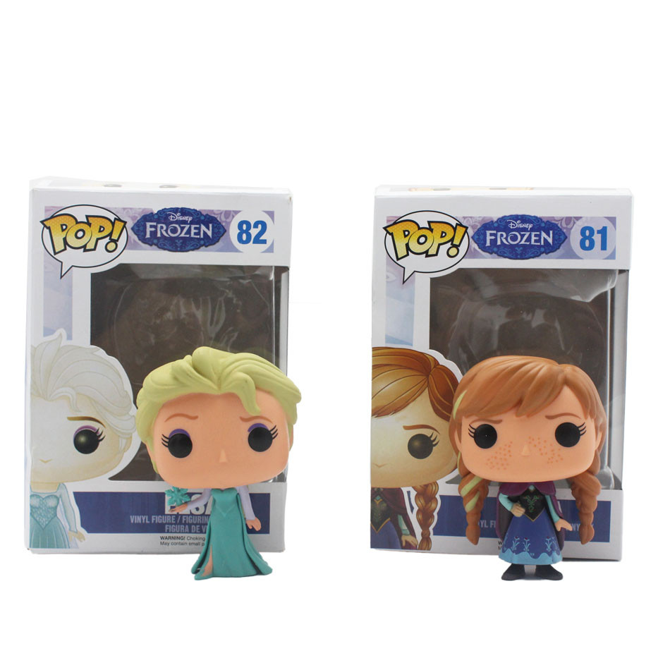 Funko Pop White Princess Elsa Anna olaf PVC Anime Hot Movie Vinyl Movable head Cute Action Figure Collection Kid's Gifts Toys(China (Mainland))