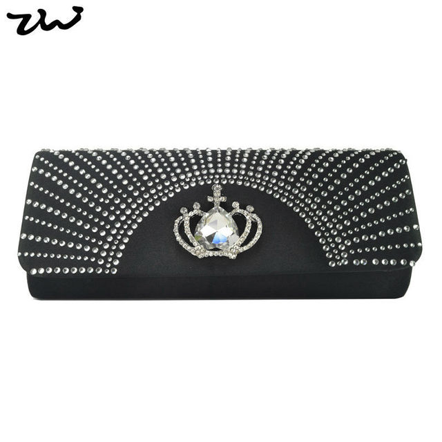 New Design! HEC Wholesale And Retail Elegant Diamante Velour Pleated Design Party Bag Evening Bags 6Color/CB035