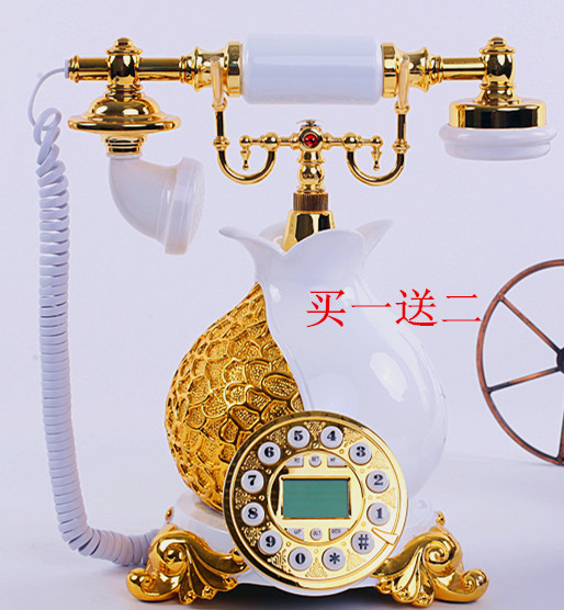 Genuine special vase antique European style antique telephone set with a rope phone IP(China (Mainland))