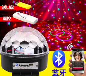 36pcs/lot, LED Crystal Magic Ball 6 Colors bluetooth MP3 USB Remote control effect Light Stage Party Disco DJ Bar KTV dj led(China (Mainland))