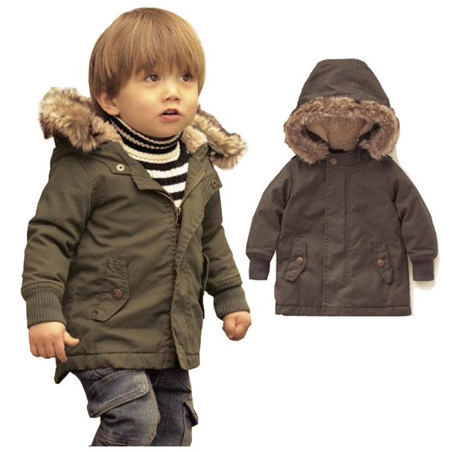 2016 Зима Пуховик для Мальчиков Пальто Snowsuit Мальчик Младенческая Малышей Теплая Зима Куртка 3-48 М Одежда Теплые