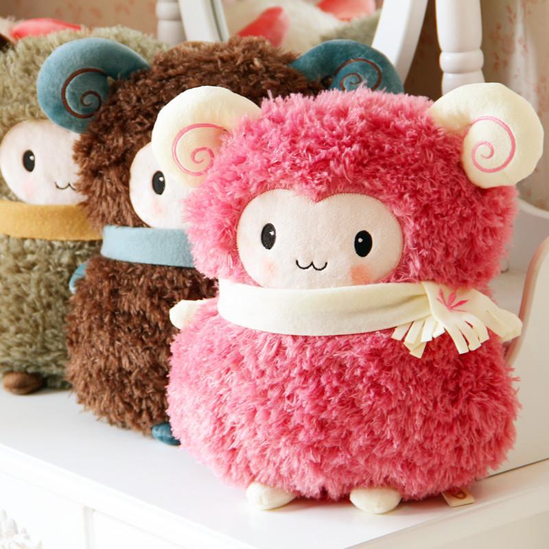 wholesale Dora cartoon little sheep pillow hand warmer lovers pillow nap pillow gift winter(China (Mainland))