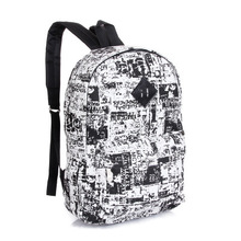 New 2015 casual canvas travel backpack fashion school bags for girls boys plaid printing backpack shoulderbagsHBE19