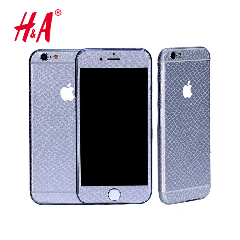 Durable 3D snake skin Full Body Back Film Sticker Case Cover Wrap Skin For Apple iPhone 5 5s 5se 6 6s 6 plus(China (Mainland))