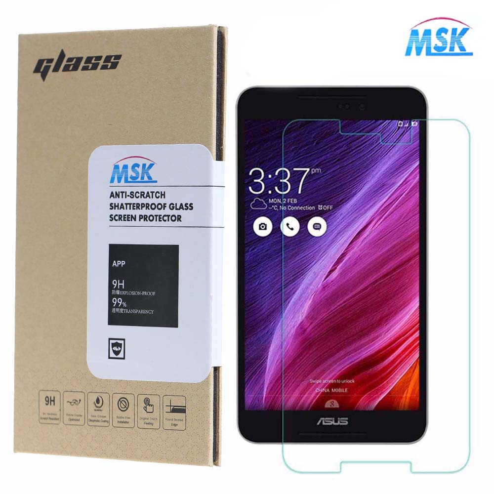 MSK Zenfone ze550ml Tempered Glass asus zenfone 2 ze551ml Screen Protector Premium Explosion-Proof Guard film front  -  CN-Big World - Trading Company store