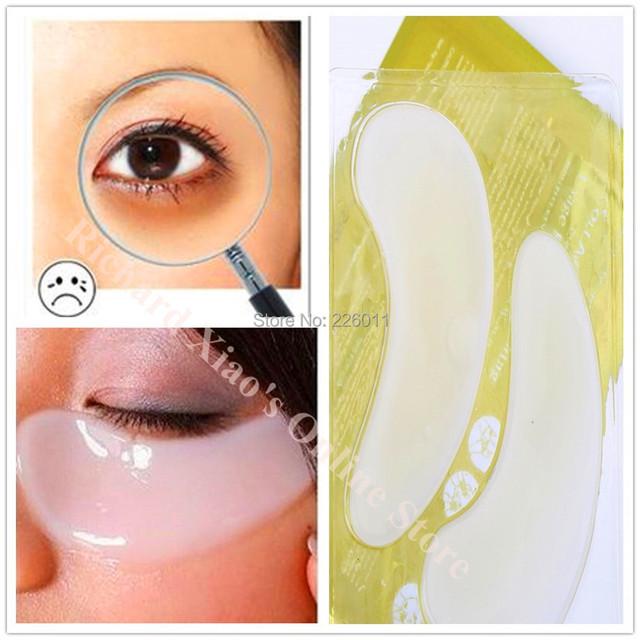 Белый Crystal Eye Mask Пластика Век Patch Влажность Морщин Круги Удаления Патчи Красоты ...