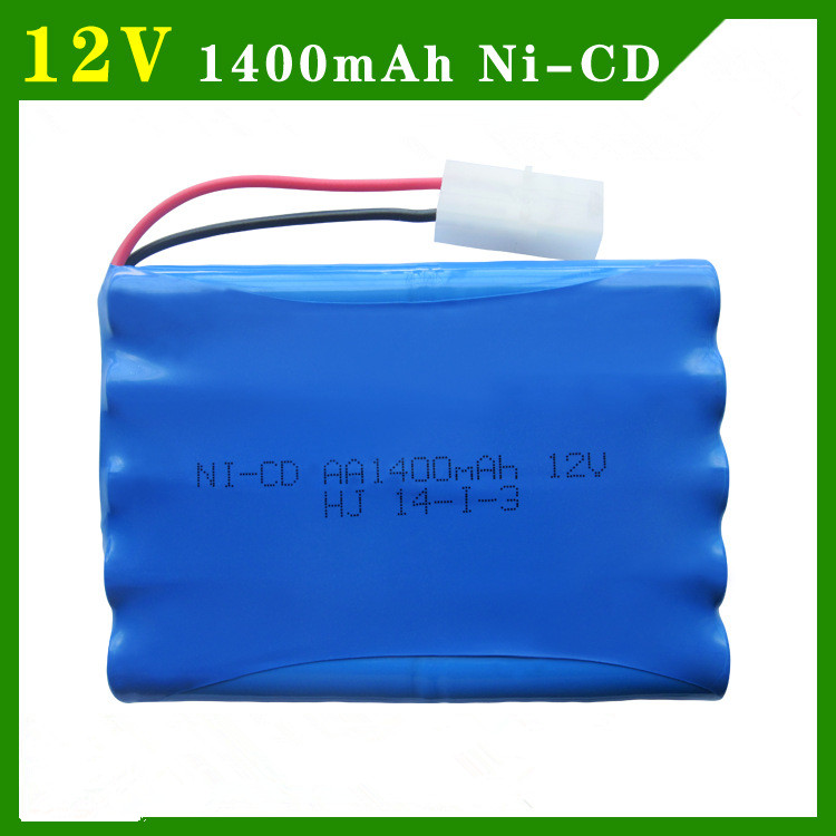 12v 1400mah ni-cd 12v aa nicd batteries aa battery pack ni cd rechargeable for RC boat model car electric toys tank(China (Mainland))