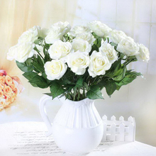 5Pcs/lot Real Touch Rose Artificial Flowers Silk For wedding Home Design Bouquet Decoration Valentine Day(China (Mainland))