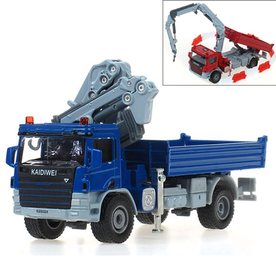 1 PC 13.5cm Lorry-mounted crane truck device alloy truck model 1:50 gifts(China (Mainland))