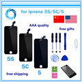 1PCS Mobile Phone LCD Display with Touch Screen Digitizer Assembly No Dead Pixel For iPhone 5