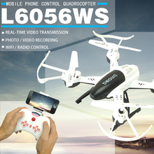 Drone HD Camera 6056WS 2.4G 3.7V WIFI Camera RC Model Quadcopter Phone Control A Key Take Off and Landing