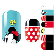 White & Rad min Mouse child Nail Arts Nail Sticker Waterproof Nail Decal Sticker Gel Polish French Manicure Patch Full Tape