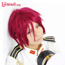 Free shipping Anime Rin Matsuoka 30cm short straight burgundy cosplay party wig ZY45(China (Mainland))