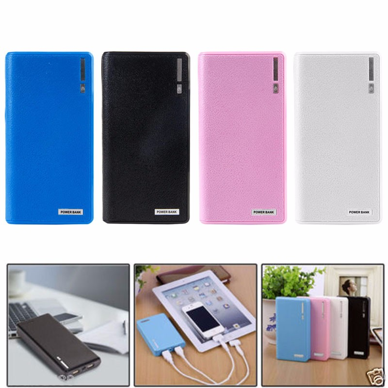 image for Dual USB Power Bank 6x 18650 External Backup Battery Charger Box Case