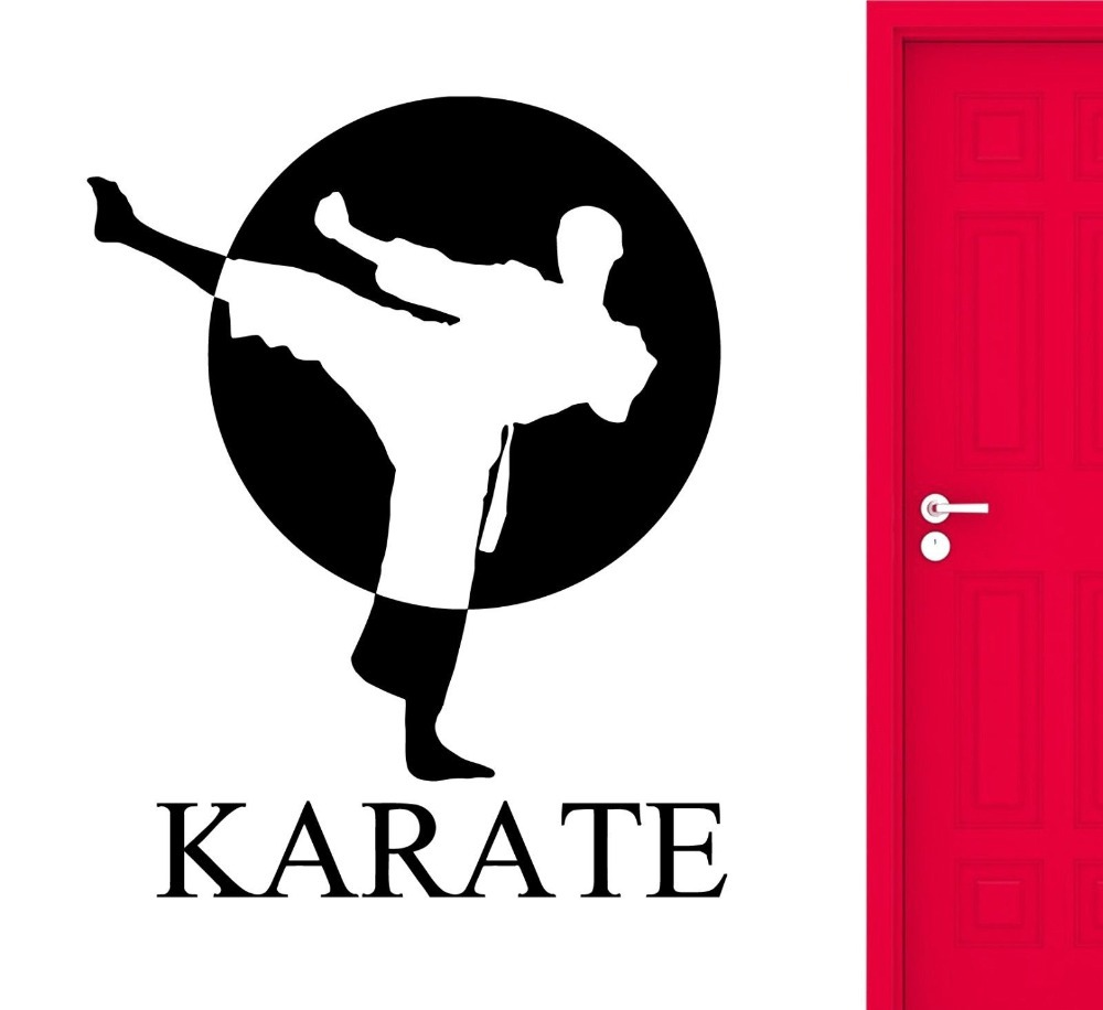 karate wall stickers sports martial arts fighter fighting