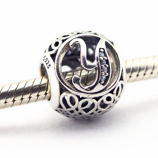 Серебро 925 2016 весна ювелирные изделия письмо Y бусины подходит браслет европейский алфавит натуральный камень бусины для ювелирных изделий