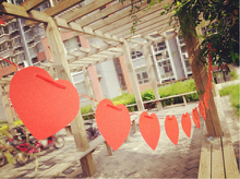 1 Set Red Love Heart Paper Garland Warehouse Moving Clearing Inventory(China (Mainland))