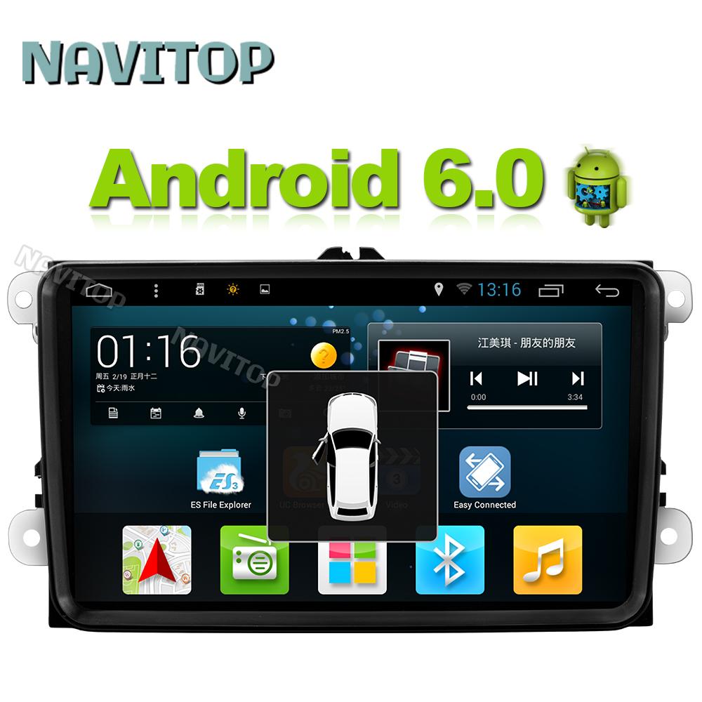 Navitop android 6.0 car dvd player gps 2 din in dash for vw skoda tiguan polo golf touran EOS CC jetta passat radio navigation(China (Mainland))