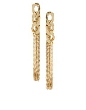 Artilady metal chain stud earring fashion vintage 18k gold tassles earrings for women jewelry party gifr