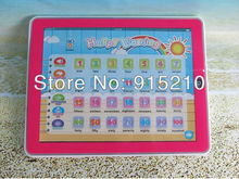 Free Shipping Toy Pad 11-IN-1 English Learning Tablet ,Y Pad laptop computer baby toys with Light,2 Colours Mixed,2000PCS/Lot(China (Mainland))