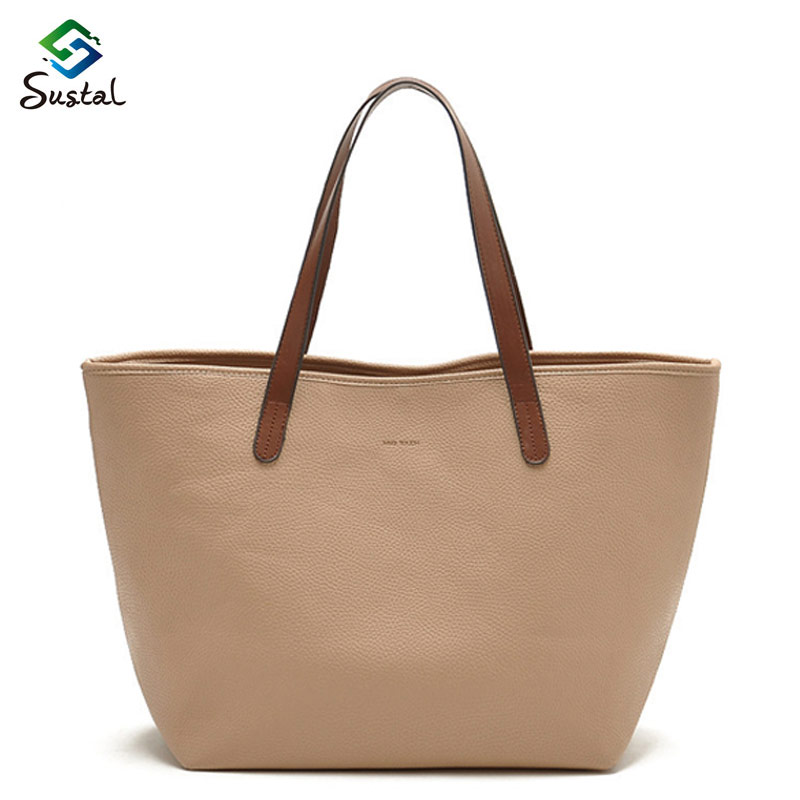 2015 hot sale  fashion style women big handbag solid bag casual bag for women shopping bag pattern type <br><br>Aliexpress