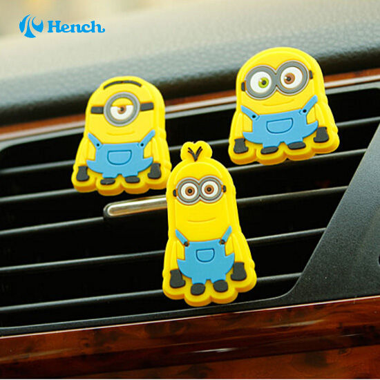 Cartoon Car Styling Mini Despicable Me minions Style Air Freshener Perfume for Car Air Condition Vent MInions Boss(China (Mainland))