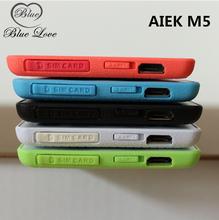 Russian Keyboard AIEK M5 Card Cell Phone 4.5mm Ultra Thin Pocket Mini Phone Quad Band Low Radiation AEKU M5 Card Cell Phone