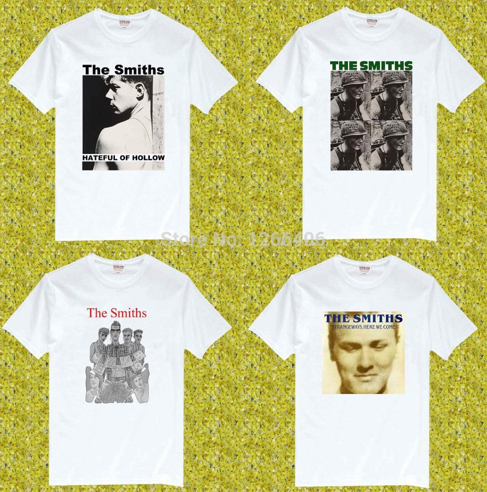 Free Shipping The Smiths Hateful of Hollow Rock Music Band 100% Cotton O Neck Short Sleeve camisetas T Shirt, Unisex(China (Mainland))
