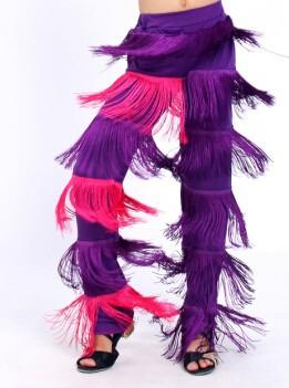 DB23543 fringe dance pants-4