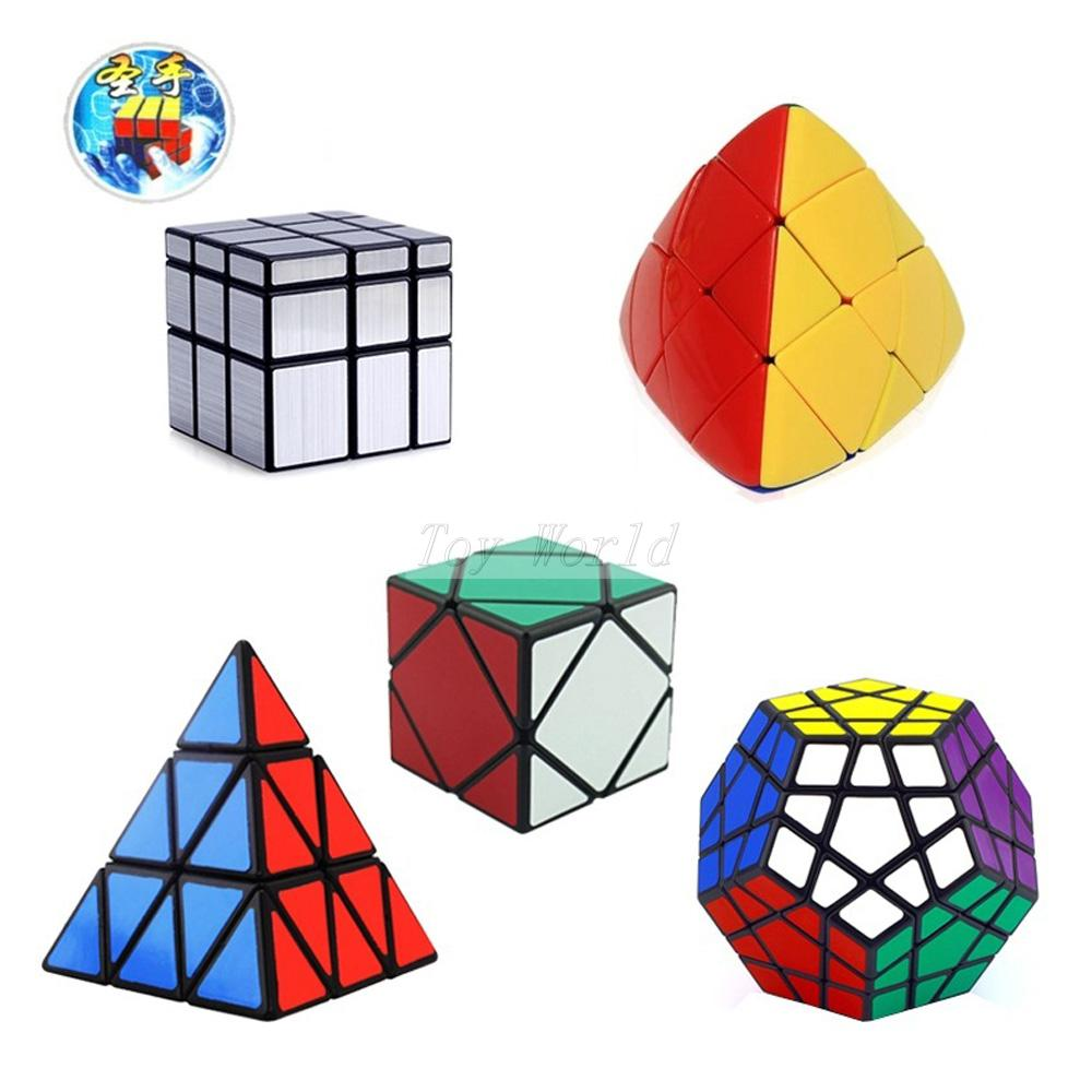 5Pcs/Lot ShengShou Speed magic Cube (Include Skewb, Megaminx Dodecahedron, Pyraminx ,mirror, Mastermorphix)cubo magico de rubick(China (Mainland))