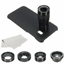 Buy Samsung Galaxy S7 Edge 4 In1 9X Zoom Telephoto Macro Cellhone Camera Lens Fisheye Wide Angle Lens Case Cover Kit for $9.78 in AliExpress store