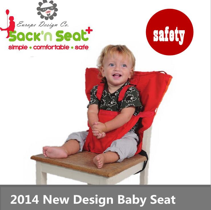 Brand Portable Baby/Kids Chair Child High Chairs Seat Belts Safety Belt Folding Dining Feeding bolsa Cadeira De Bebe furniture(China (Mainland))