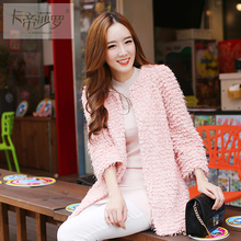 2015 autumn women s all match female outerwear spring and autumn and winter medium long outerwear