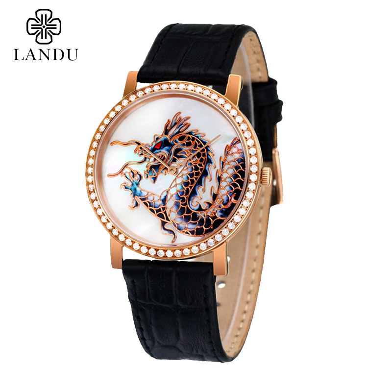 New Carving Dragon Watch,Gents Leather Quartz watches waterproof Commerce,Pierced Tourbillon,Limited edition,Free shipping(China (Mainland))