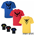 Pokemon Go Team T shirts Men s Cotton Shorts Sleeve Summer Male Tops Tees Casual shirts