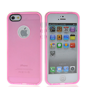Translucent design silicone soft gel case cover for Apple iPhone 5 5g cell phone case with 10 colors Free shipping