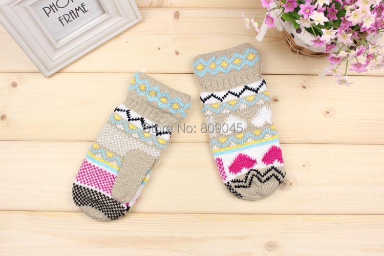 Подарок, Мода высокое качество осень зима открытый теплые женщины сенсорный knited перчатки полу / полный палец mitten1pair = 2 шт. GW49