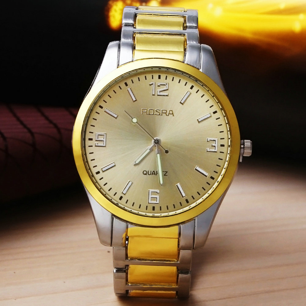 Hot sale men full Stainless Steel watches Fashion Sports Quartz Wrist Watch Wholesale Gold And Silver