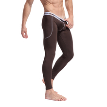Stylish Hot Men's Soft Fiber Long Johns Thermal Pants Bottom Solid Color Underwear S M L For Sale(China (Mainland))