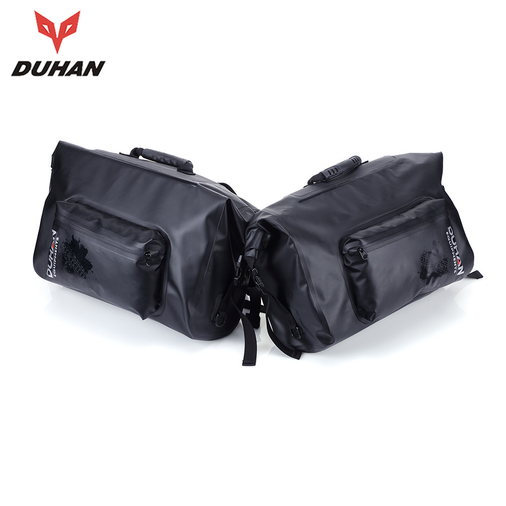 DUHAN 2 X Full Waterproof Motorcycle Travel Side Luggage Side Package Saddle Bags Knight Package Two Side Box 100% Waterproof(China (Mainland))