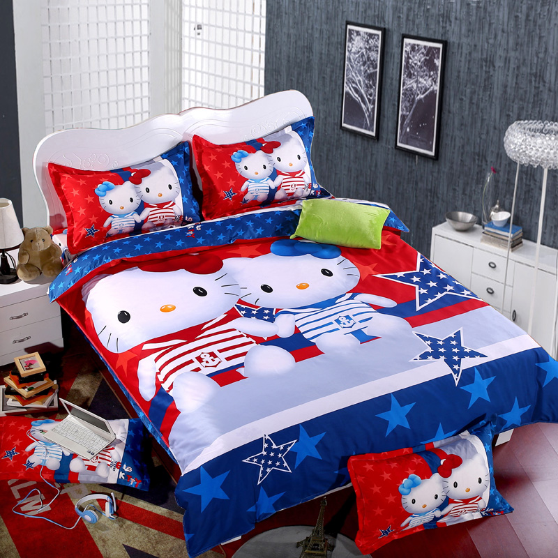 Compare prices on hello kitty queen size bedding online for Housse couette hello kitty