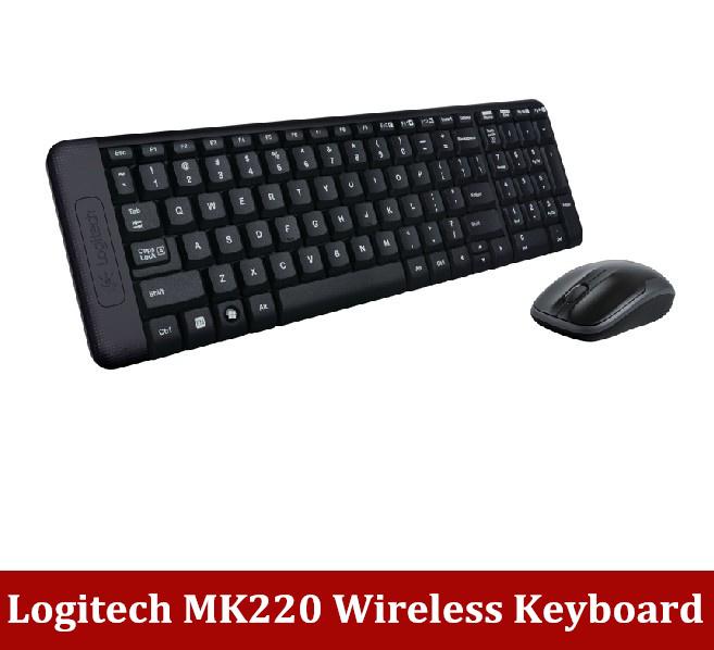 Free shipping Logitech Wireless MK220 Keyboard USB keyboard and mouse wireless keyboard(China (Mainland))